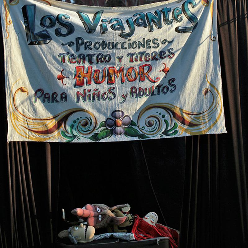 Кулисы кукольного уличной театра, Буэнос Айрес © Proalps