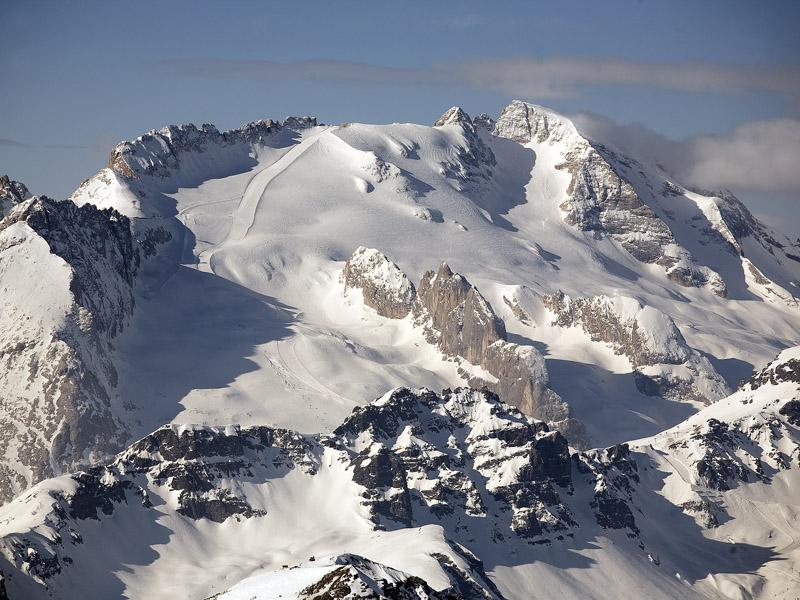 Ледник Мармолада, каким в этот раз мы его не увидели:)