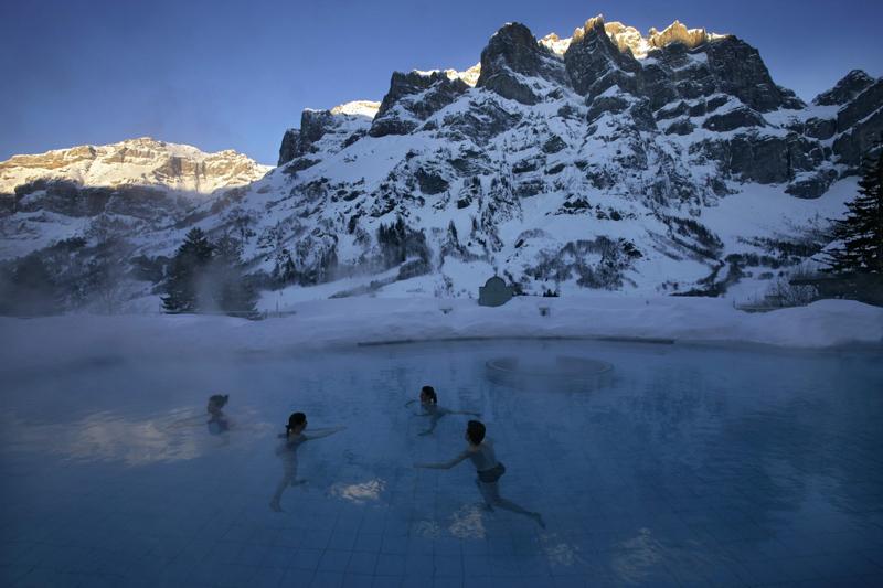 Открытый бассейн Lindner Alpentherme