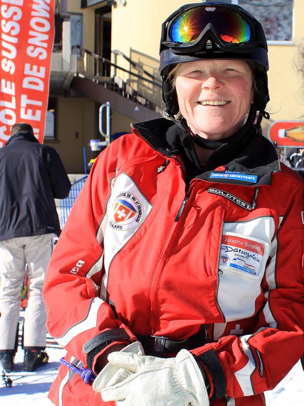 Жанотт Жиру, инструктор по тандем-ски