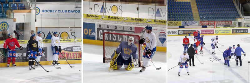 Тренировка команды Давоса