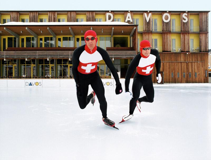 Самый большой (18.000 кв.м) каток в Европе © Davos Destinations