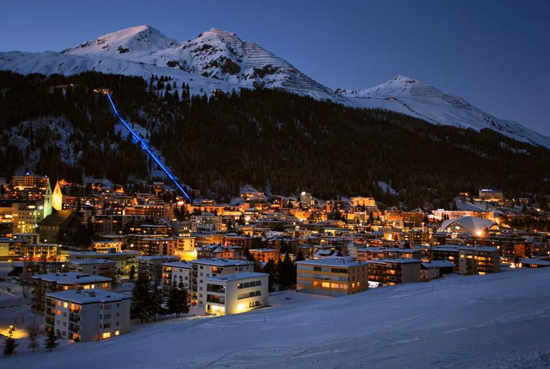 Ночной Давос © Davos Destinations