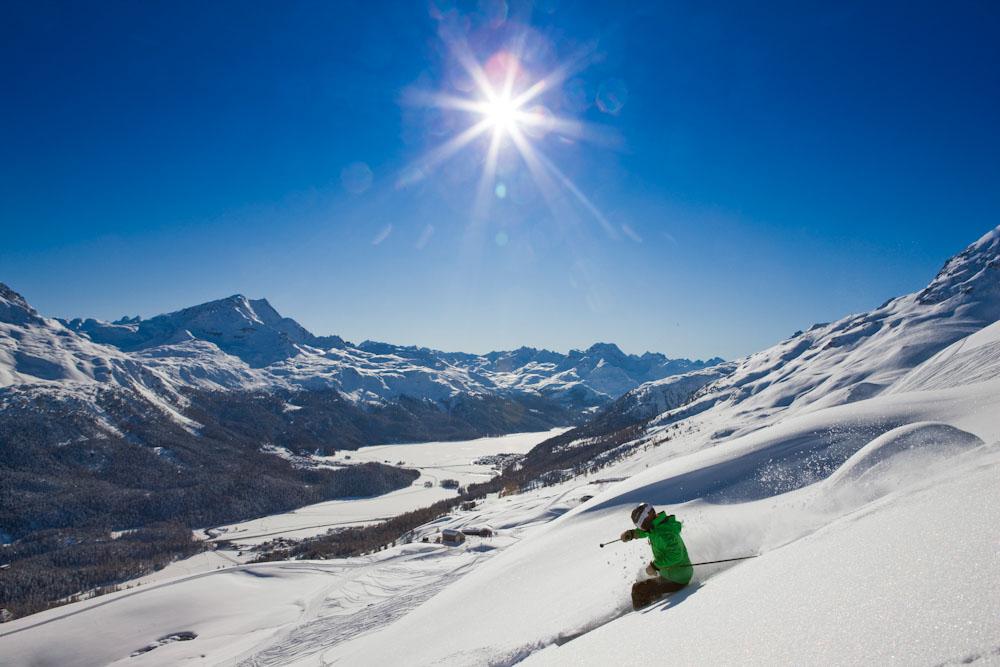 ENGADIN St. Moritz: Skifahren