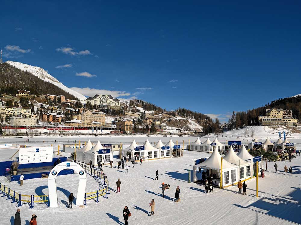ENGADIN St. Moritz: White Turf auf dem St. Moritzersee