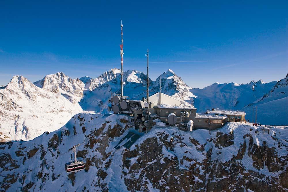 ENGADIN St. Moritz: Bergstation Corvatsch