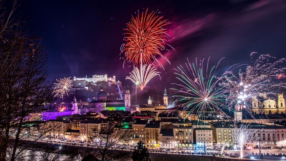 Salzburg Silvester Feuerwerk