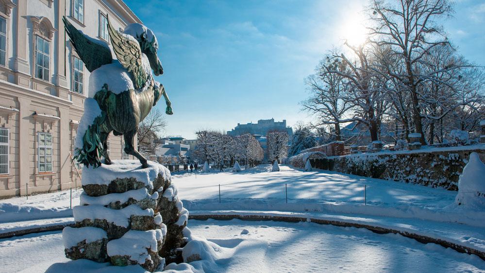 Mirabellgarten im Winter